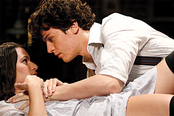 jonathan groff and lea michele spring awakening. Lea Michele and Jonathan Groff