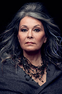 artistic head shot of Roseanne Barr