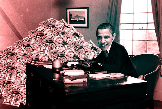This is the most recent Photoshop image we did of Barack Obama. Don't ask.