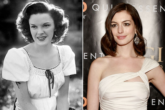 Double Time: Anne Hathaway will play Judy Garland in both a Broadway and a