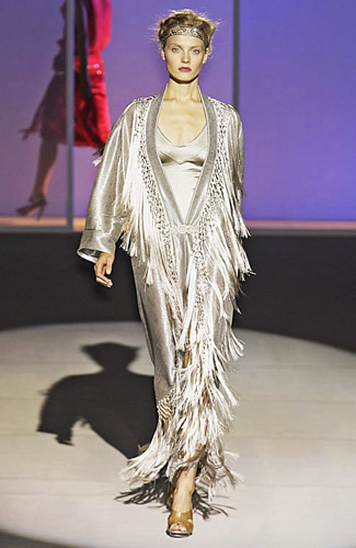 Milan Runways Full O' Fringe -- The Cut: New York Magazine's Fashion Blog :  runway rundown online shopping fashion shows new