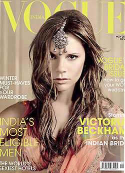 Victoria Beckham Lands Indian 'Vogue' Bridal-Issue Cover -- The Cut: New York Magazine's Fashion Blog :  new victoria christies issue