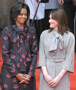 First Lady Fashion Battle: Michelle Obama Versus Carla Bruni (Updated)