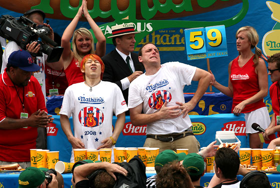 joey chestnut and takeru kobayashi