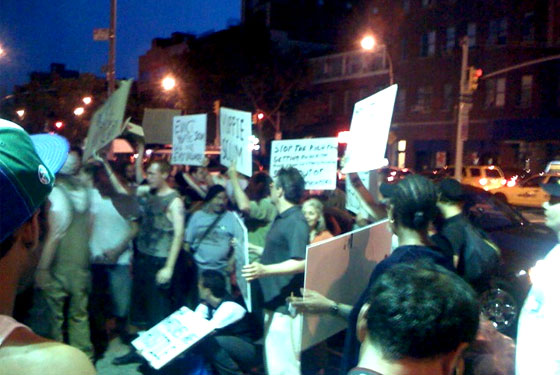 east village protest