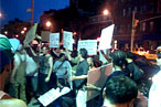 Protesters Rage Against East Village Wine Bars