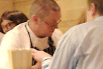 The chef schmoozing at last year's event.