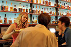 The bourbon bar at Char No. 4.
