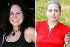 From left, Stephanie Izard and Jamie Lauren.
