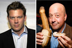 Smackdown: Tyler Florence, 'Least Talented TV Chef,' vs. Andrew Zimmern, 'The Guy who Eats Dried Camel Cock'