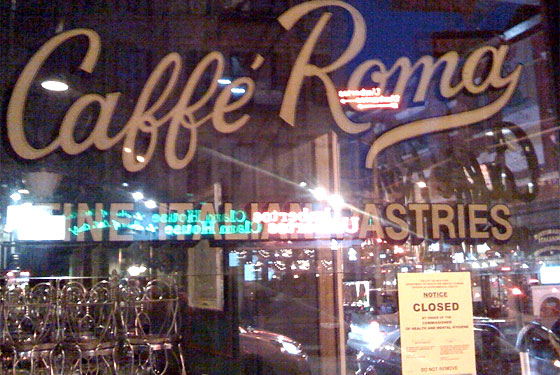 Nino&#8217;s and Caffe Roma Shuttered by DOH