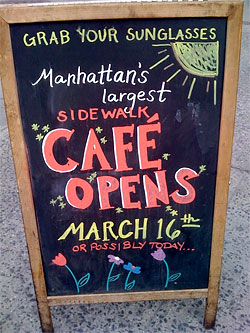 Bring the Spring: 75 Sidewalk Cafés That Are Already Open (Part 1)