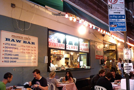 Italian Food Center Serves Sidewalk Oysters