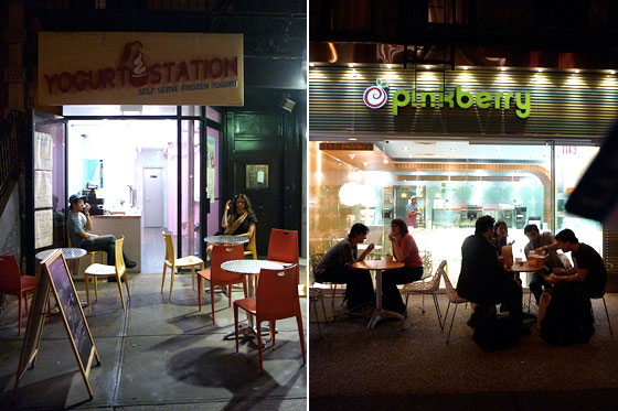 Fro-Yo Row: The Outdoor Frozen-Yogurt Cafés of St. Marks