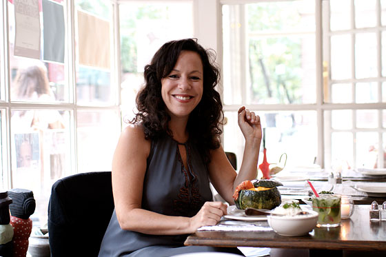 Brazilian singer-songwriter Bebel Gilberto loves camarão na moranga at Casa.