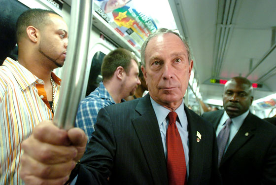 Bloomberg On Subway