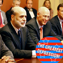 Paulson with Bernanke last September, in the midst of thinking un –Christian Scientist thoughts.