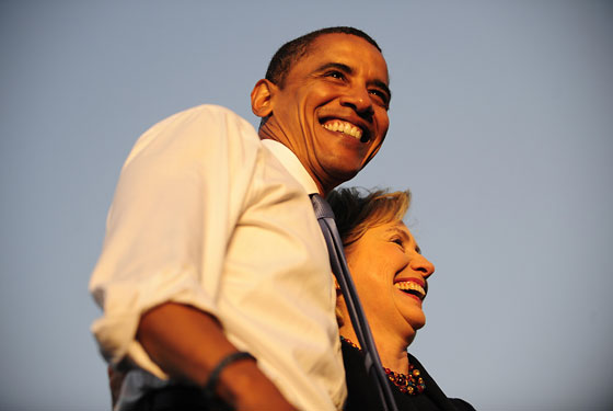 Clinton et Obama