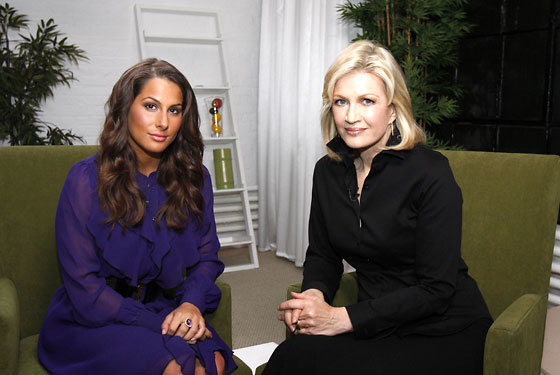 Dupré with Diane Sawyer, who will interview her on Friday on <i>20/20</i>.