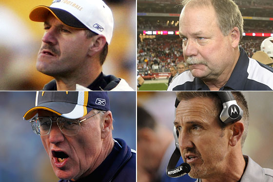 Clockwise from top left: Cowher, Holmgren, Spagnuolo, and Schottenheimer