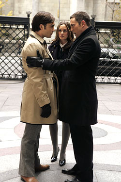 """OMG! Chuck wore a woman's coat, <i>right there.</i>"""