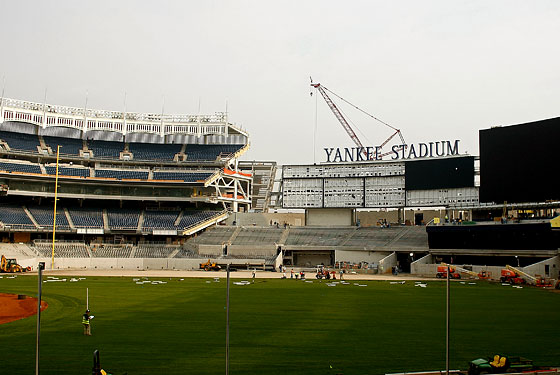 The new Yankee Stadium, before some of the seats (or the hockey rink) were installed.