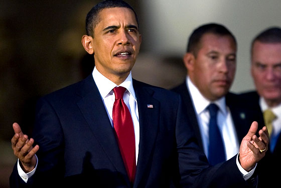 Obama takes in a deep breath of swine flu while in Mexico recently, just to show it who's boss.