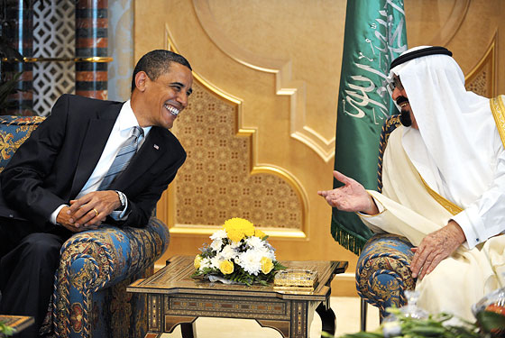 The Obama team met with Saudi leaders earlier today.