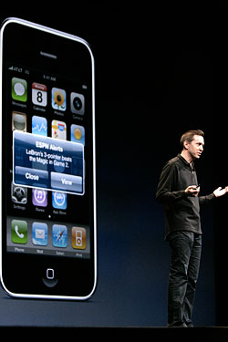 Apple's Scott Forstall explains new iPhone apps.
