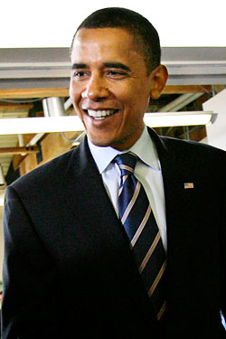 Happy Barack Obama