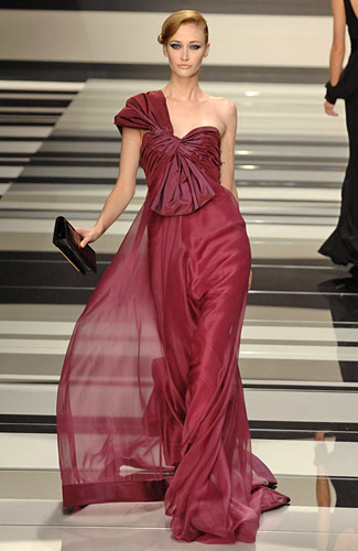 Elie Saab - Elie Saab - Fall 2008 Collection :  elie saab dress gown clothing designers