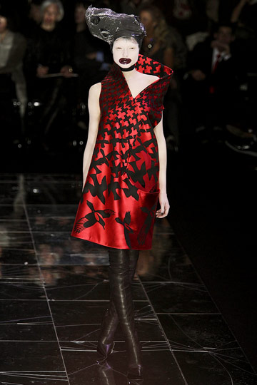 ALEXANDER McQUEEN::Paris Runway Fall 09 No. 11 :  fall 09 designer dress alexander mcqueen birds