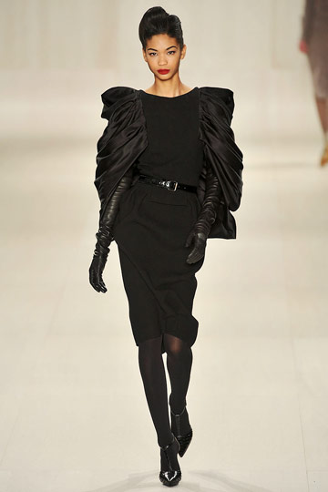 Elie Saab Fall 2009 RTW :  black dress cocktail womens dresses