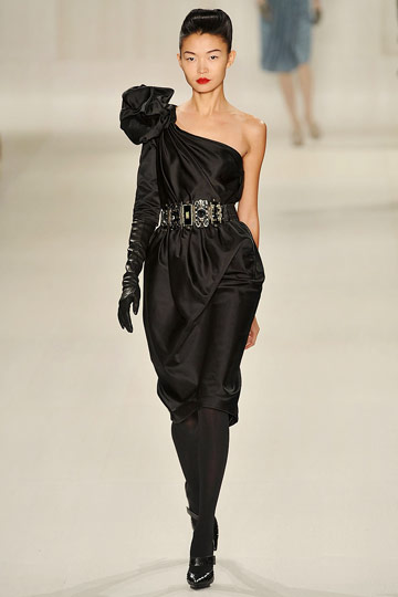 Elie Saab Fall 2009 RTW :  black dress womens dresses evening