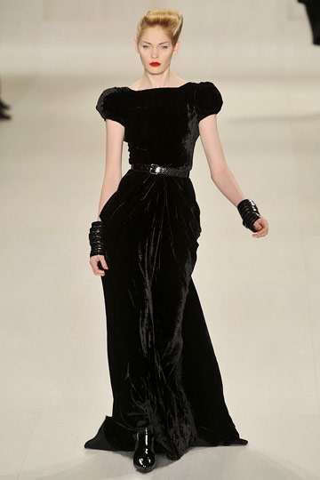 Elie Saab Fall 2009 RTW :  black dress style red carpet womens