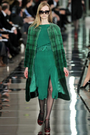 Valentino Fall 2009 RTW :  luxe cocktail green womens
