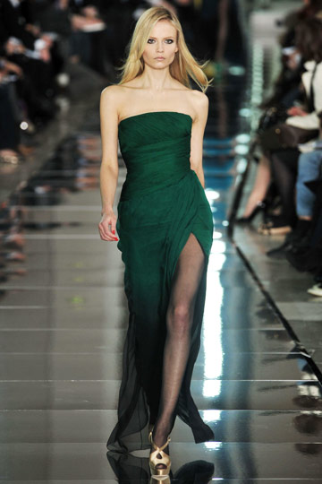 Valentino Fall 2009 RTW :  hollywood glamour gown green womens hollywood glamour