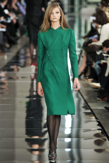 Valentino Fall 2009 RTW :  chic cocktail green womens