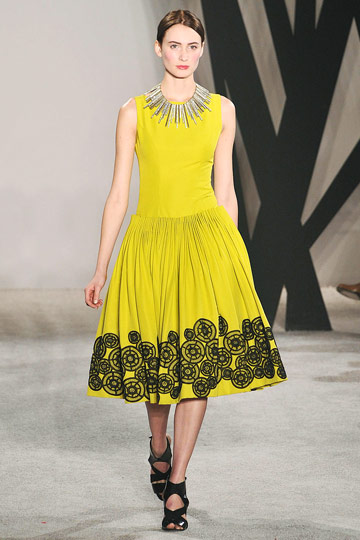 Jason Wu - Jason Wu - Fall 2009 Collection :  fashion fall collection designer yellow