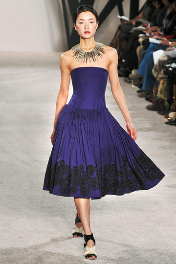 Jason Wu - Jason Wu - Fall 2009 Collection :  cobalt spanish dress mexican