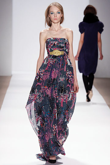 Tibi - Tibi - Fall 2009 Collection#\ :  allover print new york magazine gown dress