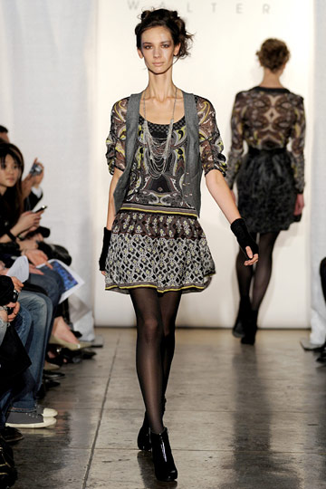 Walter - Walter - Fall 2009 Collection# :  allover print three quarter sleeves ready to wear rtw