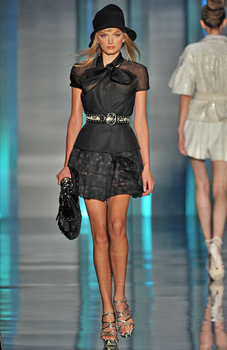 Christian Dior - Christian Dior - Spring 2009 Collection :  spring 2009 tiers strapless stripes