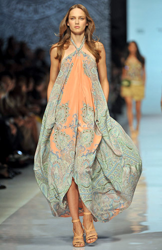 Etro - Etro - Spring 2009 Collection :  light blue orange green womens