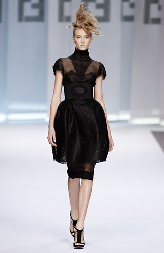 Fendi Spring 2009 RTW :  mad men spring black fendi