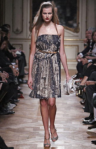 Miu Miu - Miu Miu - Spring 2009 Collection## :  fitted at waist strapless clothing womens