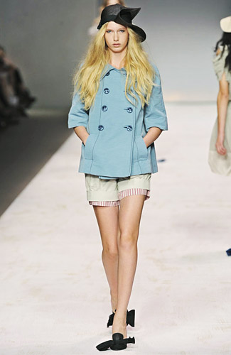 Sportmax - Sportmax - Spring 2009 Collection :  light blue sheer clothing womens