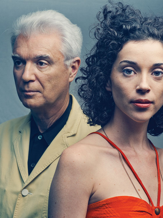 David Byrne with beautiful, Single