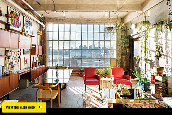 Loft Living Magazine New York Design Hunting  Johanna Burke's South Williamsburg Loft