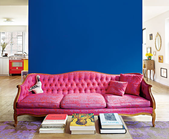 Great Room - How a Bold Color Palette Turned an Apartment Conversion ...